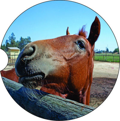 2 Absorbent Car Coasters of Horses #10. Car Accessories for her, Auto Coaster, Coaster, Cup Holder Coaster, Gift For Her, For Him $14.00