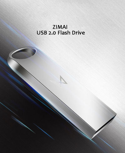 Maibenben USB 2.0 32G Flash Drive Metal Pen Drive Storage USB Flash Disk Silver