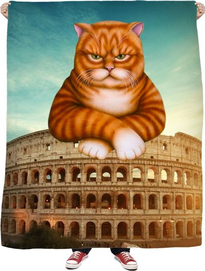 Colosseum Cat Fleece Blanket $65.00
