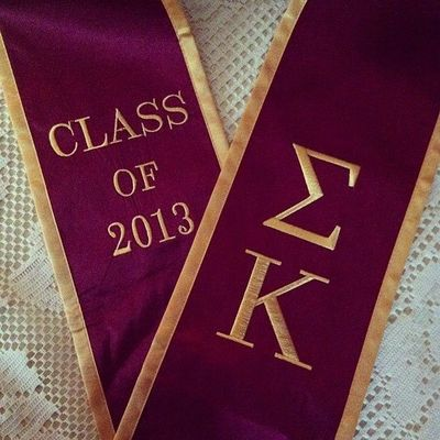 Sigma Kappa - This would have been an awesome thing to wear at graduation