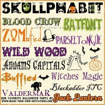 Free Halloween fonts for your Halloween party invitations