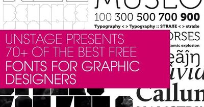 70+ of the best free fonts for graphic designers