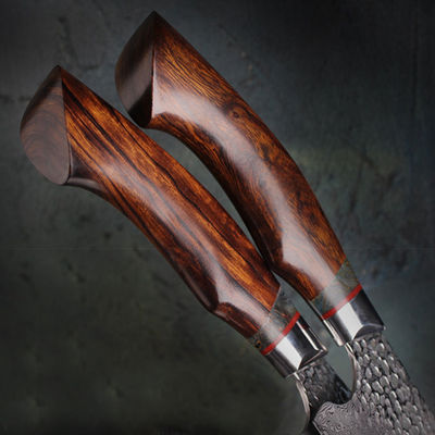 Chef Knife Wooden Handle Handmade Leather Sheath Home Kitchen Tool $170.00