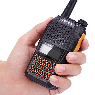 BAOFENG UV-6 PLUS 400-520MHz 128 Channels 7.4V Dual Band Radio Handheld Walkie Talkie Flashlight Chinese-English Language Driving Hotel Civilian Intercom