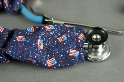 American Flag Stethoscope cover | Independence Day Stethoscope Cord cover | Nurse Doctor Gift | Stethoscope Sock | Stethoscope Accessories $10.99