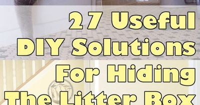 Ok...maybe I'd have a cat if I could hide the litter box....but then there still needs to be someone to clean it for me. Bleck....27 Useful DIY Solutions For Hiding The Litter Box