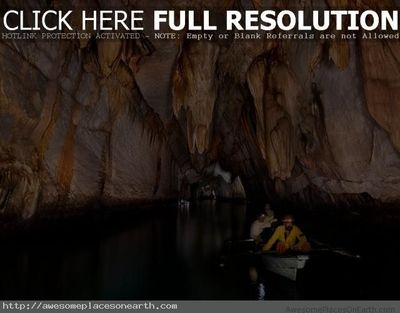 Awesome underground river, Philippines