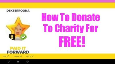 *How to donate to charity for FREE with The8App* #charity #socialmedia #donation #payitforward