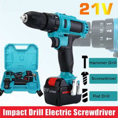 Impact Drill 21V Electric Screwdriver Power Screw Driver Drill Tool