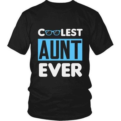 Cool Aunt, Coolest Aunt Ever T-Shirt, Gift for Aunt, Gift for Aunty, Gift for Great Aunt, Aunt Gift, Aunt T-Shirt, Aunt Shirt, Aunty Gift $19.99