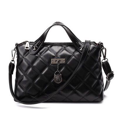 Fashion Women Handbag Quilted Bag PU Leather Messenger Bag $45.10