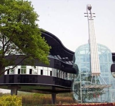 World S Most Bizarre Buildings The Piano House The Pia