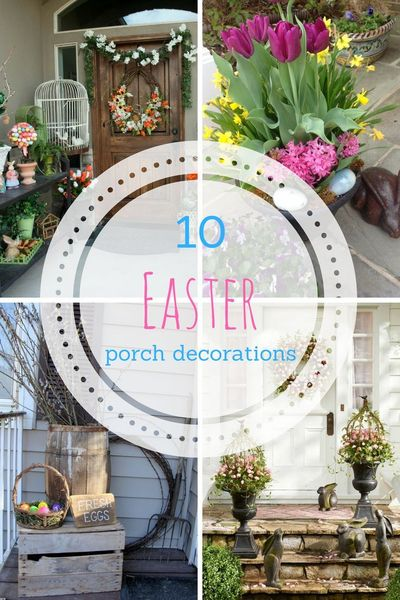 Easter Decorations, Easter Porch Decor, Easter Porch Decor Ideas, Popular Pin, Easter Decor, Porch Decor, DIY Porch Decor, Easy Holiday Porch Decor, Easter Porch, Easter, Spring Porch, Spring Decor, How to Decorate For Spring