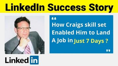 https://youtu.be/q40yX6dF1Hs This is a linkedin Sucess Story!  How to Create a Killer LinkedIn Profile To Land a Job in 7 Days