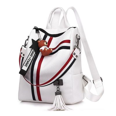 New retro fashion zipper ladies backpack leather high quality school bag shoulder bag for youth $36.34