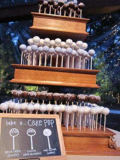Cake Pop Wedding cake instead of cake or cupcakes