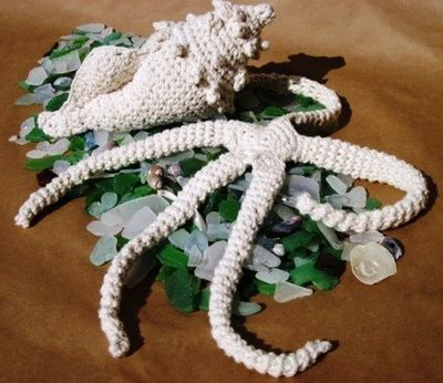 Crocheted Sea forms :
