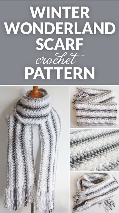 The Winter Wonderland Crochet Scarf Pattern - this free and easy crochet pattern is perfect to keep you warm and cozy on those cold winter days.