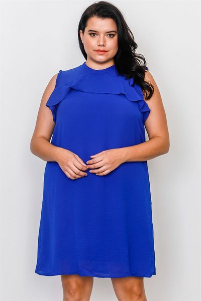 Plus Size Ruffle Tie Back Dress $24.00 (20% off with CODE: BESTDEAL)