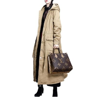 Black cotton coat, Women's winter Coat, Hooded midi Coat, Winter fill warm long coat
