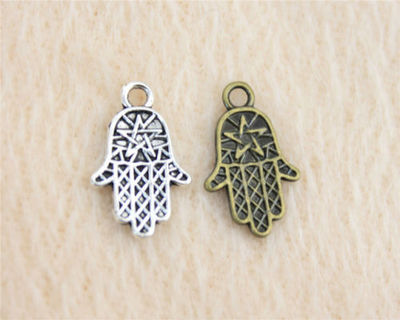 Pack of 20 Hamsa Star Charms. Different Colours. 10mm x 16mm Hand of Fatima Pendants £3.79