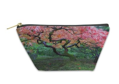 Old Maple Tree At Japanese Garden Travel Pouch $24.95