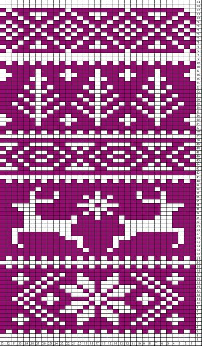 Reindeer Knitting Pattern Chart : Tricksy Knitter Charts: Fair Isle reindeer pattern (6380... / knits and kits ...