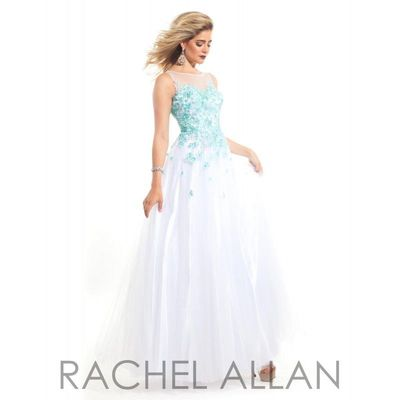 Aqua/Nude Rachel Allan Prom 6969 Rachel ALLAN Long Prom - Rich Your Wedding Day