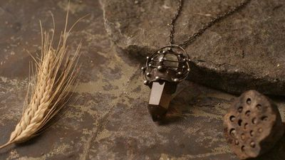 Smoky quartz, Crystal Pendant, Gemstone Pendant, Natural Rock, Healing Crystals, Witchcraft Supply Necklace, Kitchen Witch, Witch Pendulum $98.00
