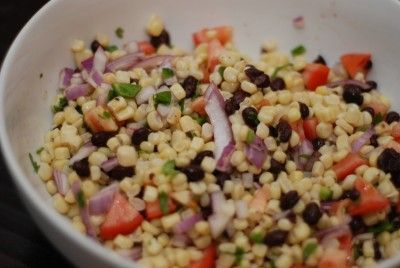 Checkout this quick and easy Black Bean and Corn Salad Recipe at LaaLoosh.com! Full of flavor and color, this Mexican Salad Recipe has just a 2 Point Total per