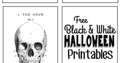 Free Black And White Vintage Halloween Printables With A Link To The Tutorial Make This