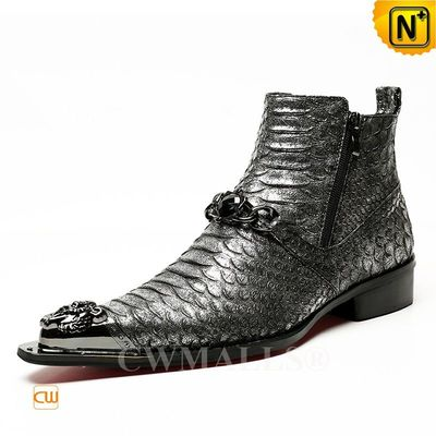 Haute Couture | Custom Made Men Exotic Leather Dress Boots CW707207 | CWMALLS.COM