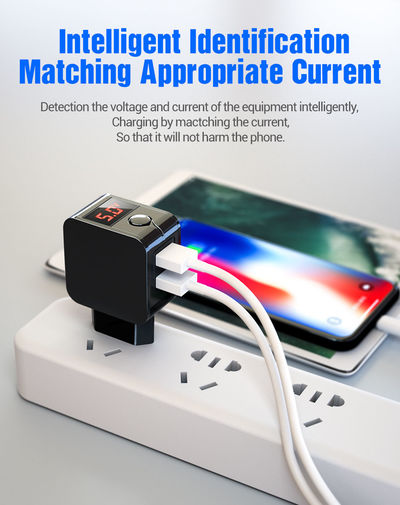 Bakeey LED Display Universal Power Adapter 5V 2.4A 2 Ports Dual USB Charger for iPhone for Samsung