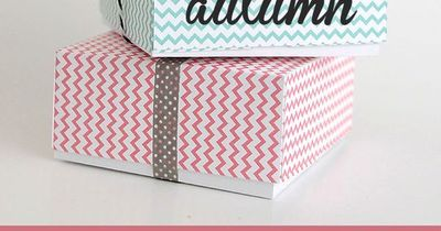 Use leftover scrapbook paper or cardstock to make these adorable folded paper cookie or treat boxes. Folding template and step by step photos included.