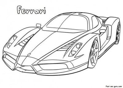 ferrari coloring pages Free Printable Ferrari Coloring Pages for kids Tags: Printa  ferrari coloring pages