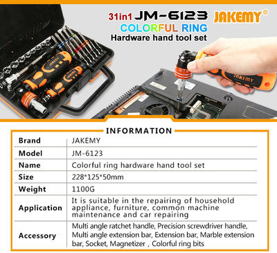 JAKEMY 31 in 1 Professional Precision Ratchet Screwdriver Set Electronics Repair Tool kit