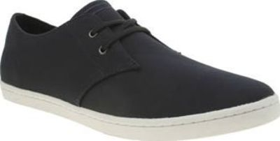 Fred Perry Navy Byron Low Twill Mens Trainers Inspired by the classic desert boot, Fred Perry create this low profile as a sporty option with sturdy design. The navy Byron Low Twill features same-colour Laurel Wreath branding, complete with twin- http://w...