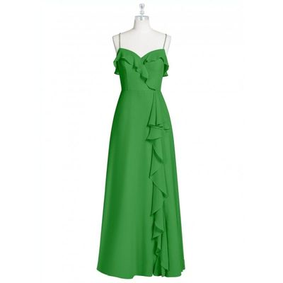 Garden green Azazie Kendra - Sweetheart Floor Length Back Zip Chiffon - Charming Bridesmaids Store