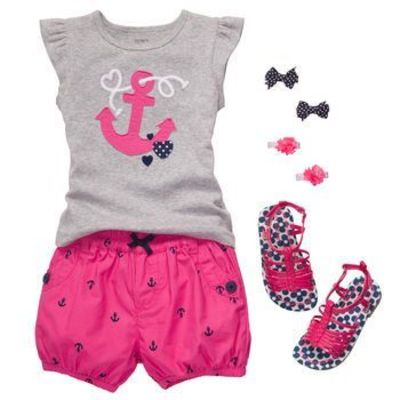 """Anchors aweigh"" in this oh so cute girls' outfit. #carters"