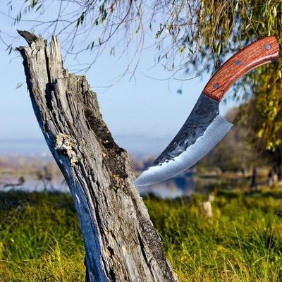 Hunting Knife High Carbon Steel Chef Kitchen Knife Camping Outdoor BBQ Butcher Tools $59.00