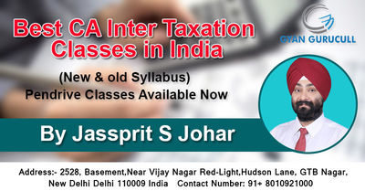 Gyan Gurucull is providing Best CA Inter Taxation Classes in India for those students who want to pursue Chartered Accountant Professional Course and make his career as Chartered Accountant. Know more call: +91-801-092-1000 or visit https://www.gyangurucu...