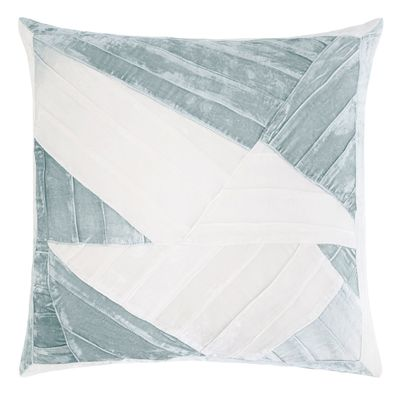 Sage & White Pleated Velvet Pillow by Kevin O'Brien Studio $315.00
