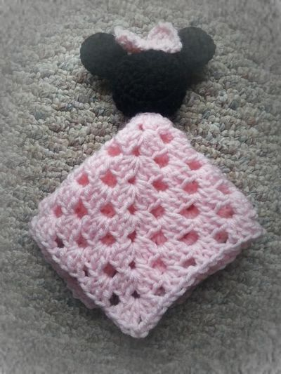 Minnie Mouse Security Blanket Free Pattern Crochet Ideas And