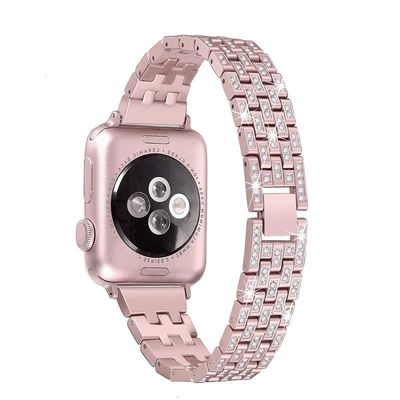 Diamond bracelet stainless steel strap For Apple Watch 38mm 42mm 40mm 44mm for iWatch series 4 3 2 1 $32.99