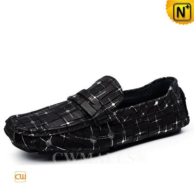 CWMALLS® Mens Printed Leather Driving Loafers CW708225 [Leather Loafers Reviews, Custom Made]