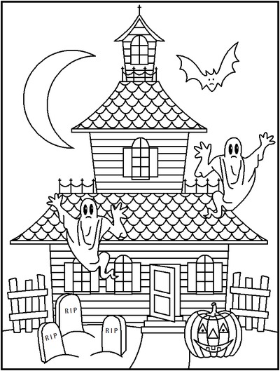 These whimsical Halloween Coloring Pages are perfect for the young or the young at heart.