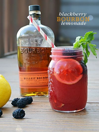 {Cocktail Friday} Blackberry Bourbon Lemonade is the perfect end of summer cocktail.
