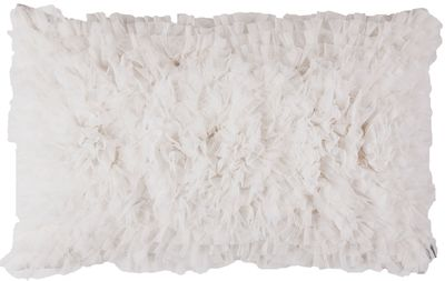 Coco White Sheer Rectangle Pillow by Lili Alessandra $150.00