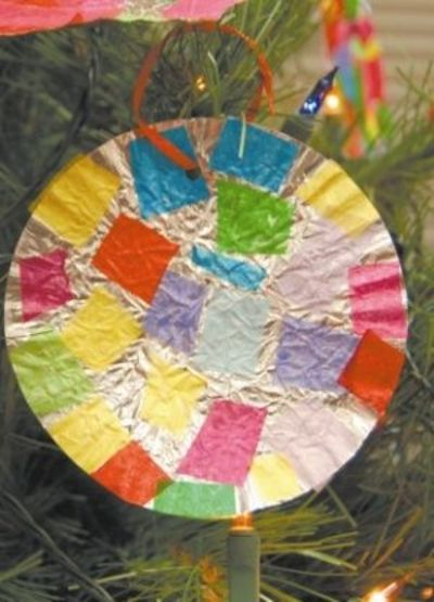Mexican tin feliz navidad ornament craft and other great for Mexican christmas crafts for kids