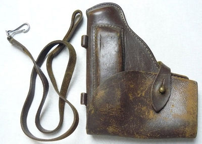 Vintage Soviet Military Officer Leather Makarov PM Gun Holster USSR $20.00